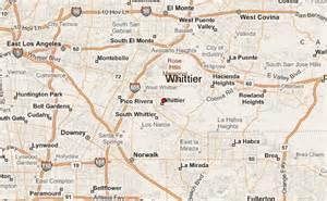 map of whittier california whittier location guide