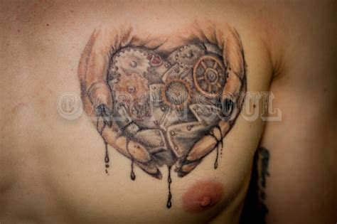 mechanical heart tattoo paul n soul studio