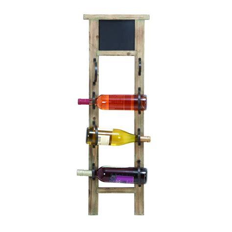Wayfair Wine Racks by Woodland Imports Chalkboard 4 Bottle Wall Mounted Wine