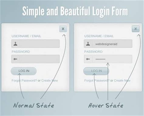 simple login form template freelance tips tools reviews 20 free