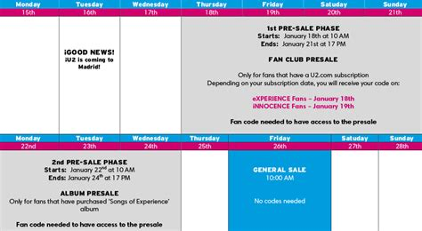 u2 fan presale u2 is back presales by ticketmaster