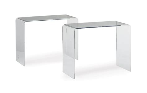 clear acrylic sofa table a pair of clear acrylic console tables modern console