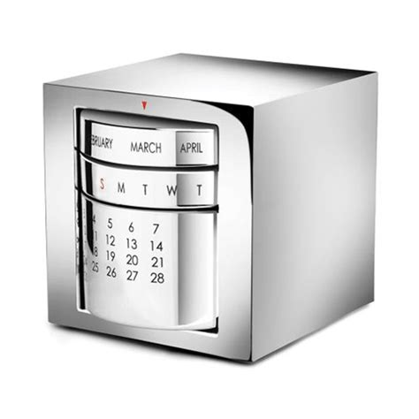 engraved silver plated perpetual desk calendar business
