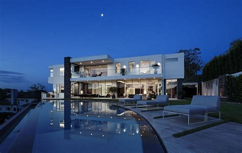 Large Mansion Floor Plans by 27 5 Million Newly Built Modern Mansion In Los Angeles