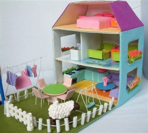 dolls house patterns felt toy pattern doll house 183 a dolls house 183 construction on cut out keep