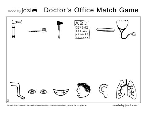 Doctor Worksheets For Kindergarten by Made By Joel 187 Work Sheets