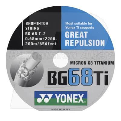 Senar Yonex Bg 68 Titanium Terpasang String Badminton Bulutangkis yonex bg 68 titanium bg 68ti 200m reel badminton string