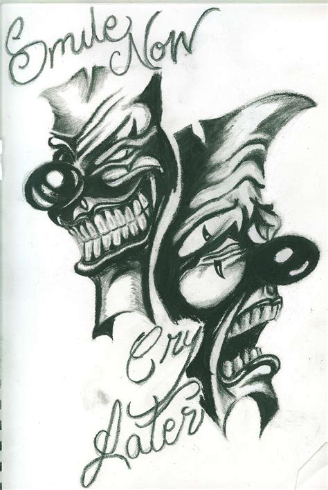 tattoo designs smile now cry later images ideas pictures ideas pictures