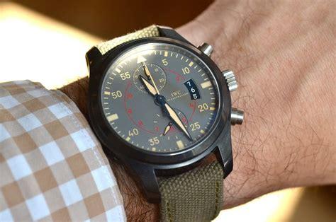 Jam Tangan Iwc Black Kanvas Murmer a week on the wrist the iwc top gun miramar chronograph