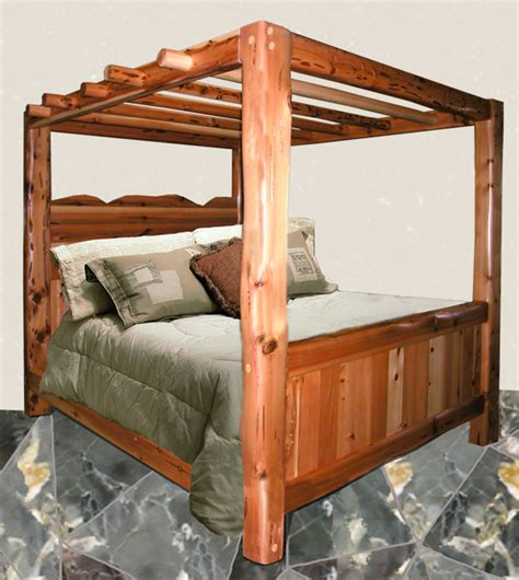 wood canopy bed canopy beds solid wood beds king beds log beds