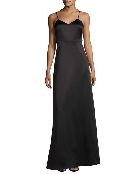 V Neck Sleeveless Evening Gown heritage sleeveless v neck structured evening gown