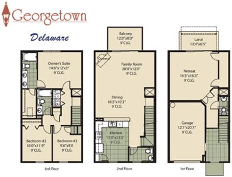 3 story townhouse floor plans home ideas