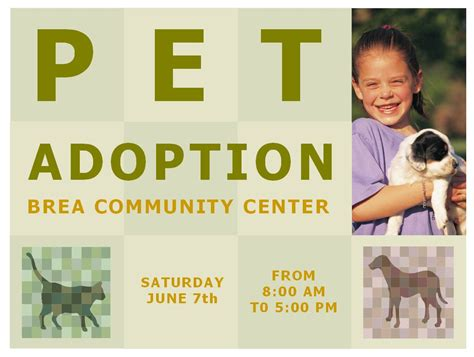 pet adoption template pet adoption flyer template