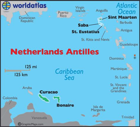 antilles islands map netherlands antilles map geography of netherlands
