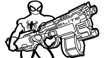 Nerf Gun Coloring Pages Www Imgkid Com The Image Kid Nerf Coloring Pages