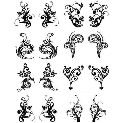 henna tattoo and water henna look water transfer tattoos tendrils designs instant