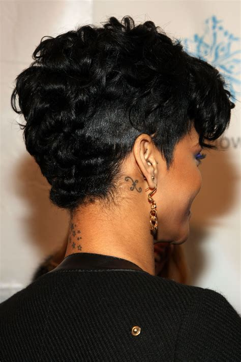 rihanna images of front and back short hair styles rihanna short hairstyles front and back view hairstyle