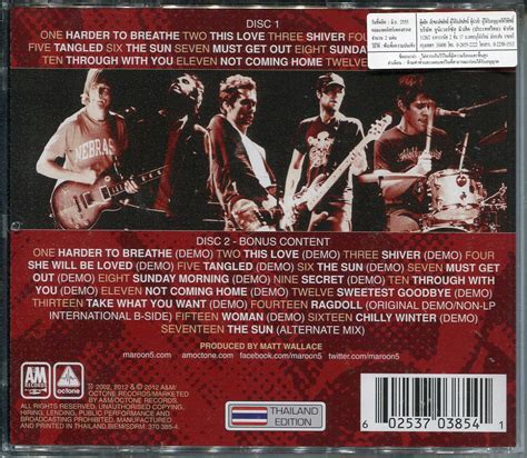 Maroon 5s New Album Hits Stores Today by มาร น 5 Cap Co Th Thai Entertainment Shop Cd Dvd