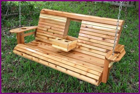 wooden bench swing kits diy roll back porch swing bench free plan diy only