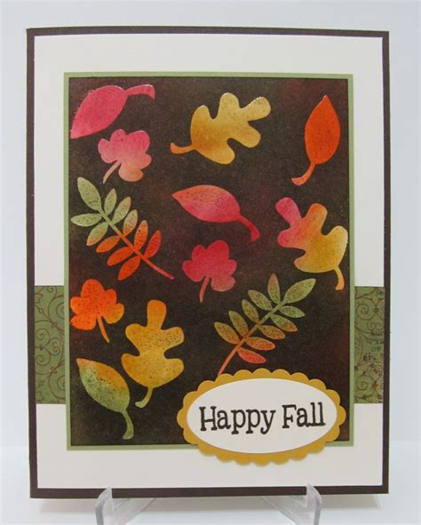 savvy handmade cards happy fall leaves card