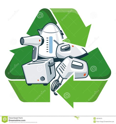 Small Efficient Home Plans recycle small electronic appliances stock vector image