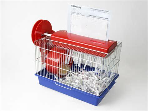 Hamster Powered Paper Shredder 5 gadgets that use hamster power hamster