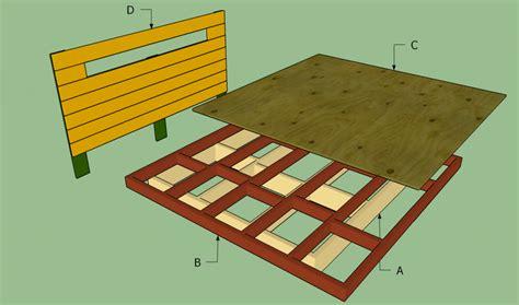 platform bed frame plans howtospecialist   build