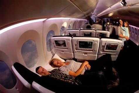 plane beds in coach air new zealand coach section is
