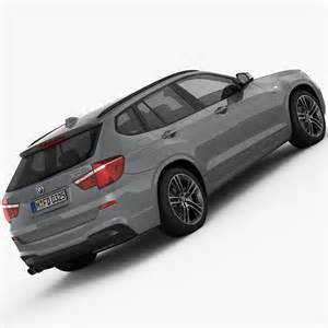 bmw x3 f25 m sport package 2015 3d model max cgtrader