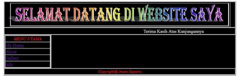 buat web sederhana dengan html imam saputra s blog contoh desain website sederhana