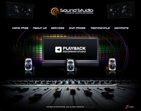 sound studio website template free from 03 27 04 02 2015