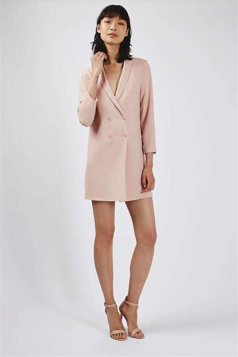 dress blazer pink lyst topshop soft tailored blazer dress in pink