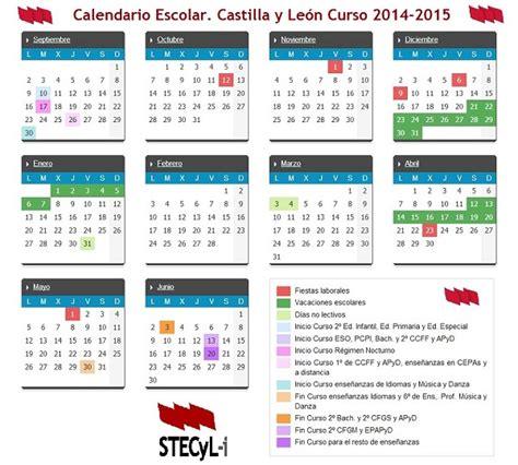 Borrador Calendario Escolar Castilla Y 2014 15 Calendario Escolar Curso 2014 2015 Stecyl I