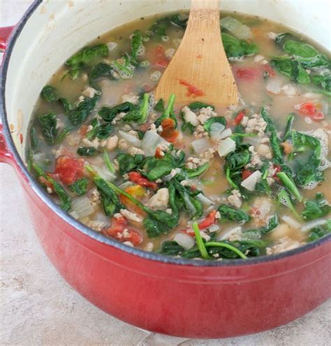 healthy turkey soup recipe 20 minute turkey bean and spinach soup healthy soup