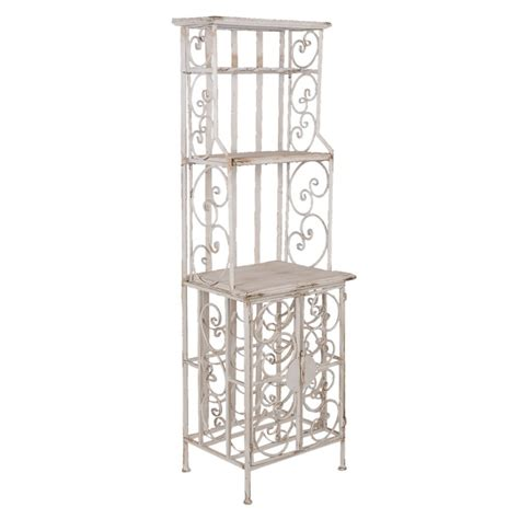 Etagere Metal Blanc by Etag 232 Re Shabby Chic Metal Blanc Us 233