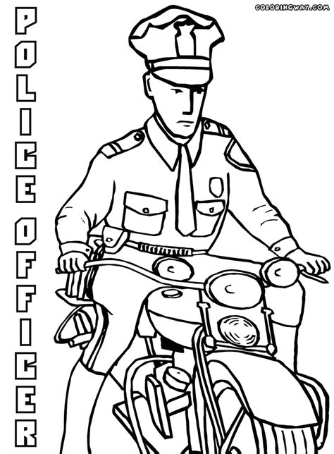 coloring pages with police police officer coloring pages coloring pages to download