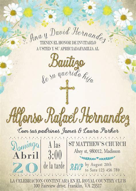 invitaciones de bautizo bautismo espanol invitacion invitacion de bautizo para imprimir digital por
