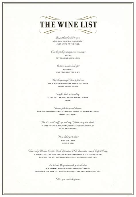 db export dry print advert by bbdo the wine list ads of