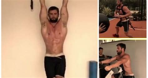 thor movie workout watch chris hemsworth gives a glimpse of his thor workout