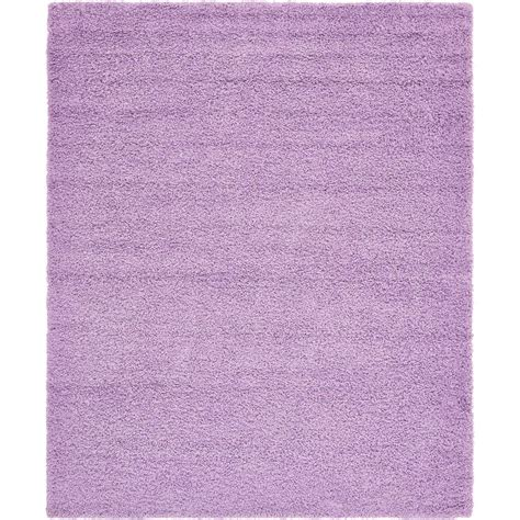 lilac area rugs unique loom solid shag lilac 8 ft x 10 ft area rug 3136655 the home depot