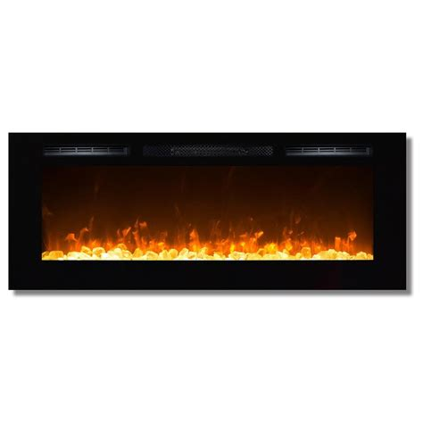 Recessed Fireplace by Sydney 50 Inch Recessed Wall Mounted Electric Fireplace