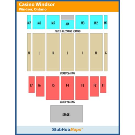 caesars windsor floor plan seating chart caesars windsor colosseum guest services a