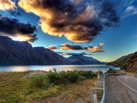zealand lake tekapo mountains cloud sky wallpaper hd