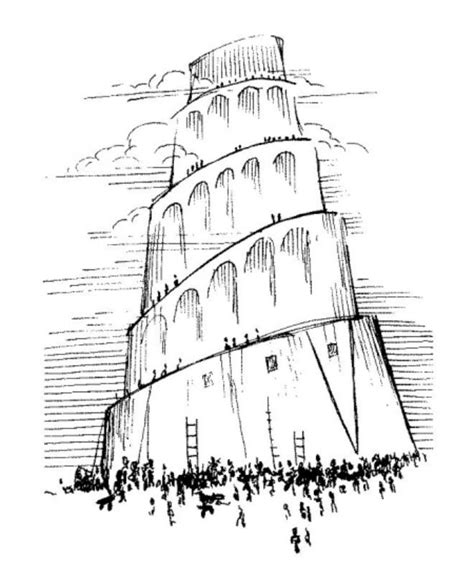free coloring pages of the tower of babel