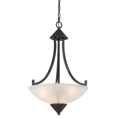 Ceiling Mount Chandelier Cal Lighting 3 Light Forged Bronze Iron Westbrook Ceiling Mount Chandelier With Glass