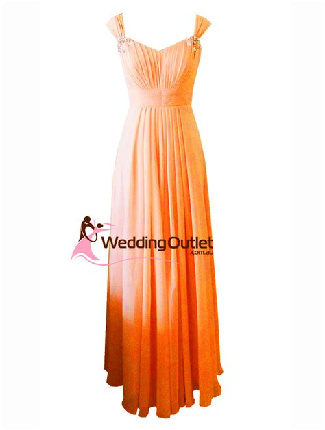 Orange Bridesmaid Dress by Orange Maxi Bridesmaid Dress Style A1029 Weddingoutlet