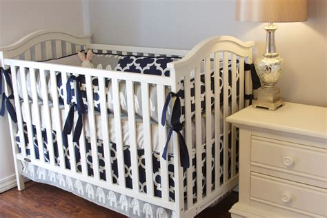 Elephant Crib Bedding Boy Elephant Boy Crib Set Boy Crib Bedding Elephant Baby Grey