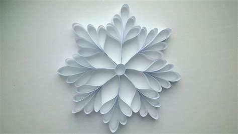 Snowflake Craft Paper - how to make a paper snowflake diy crafts tutorial