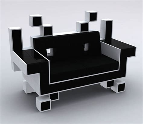 game room couch space invader couch is perfect for your retro game room