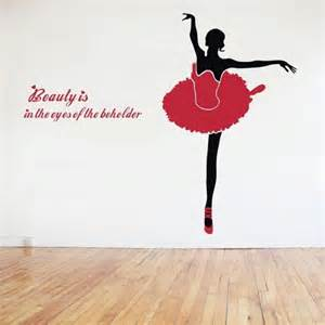 Ballet Wall Stickers dance ballet girl wall decals home decoration removable vinyl stickers
